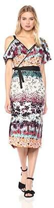 Rachel Roy Women's Floral Asymmetrical Draped Dress