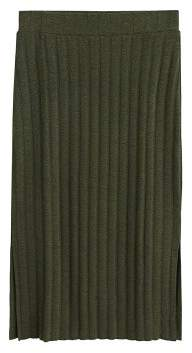 MANGO Ribbed midi skirt