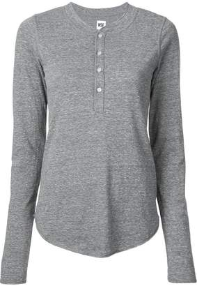 NSF long-sleeve fitted top