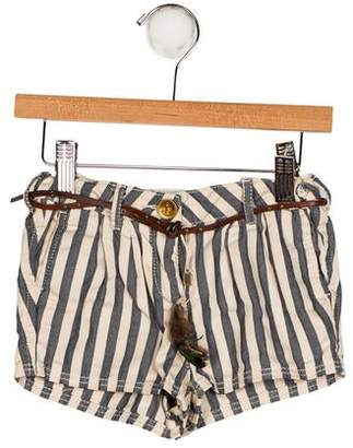 Scotch R'Belle Girls' Striped Mini Shorts