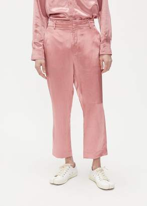 Sies Marjan Alex Washed Satin Cropped Pant