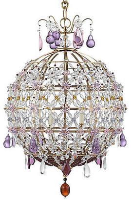 AERIN Heather Chandelier - Antiqued Brass/Amethyst