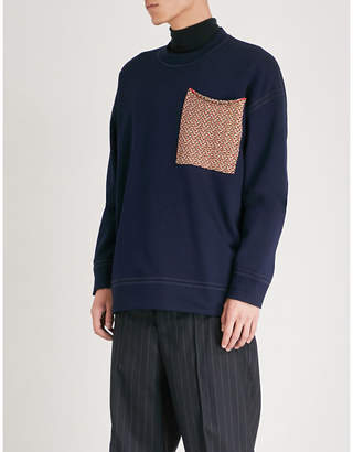 Jil Sander Patch pocket cotton-jersey sweatshirt