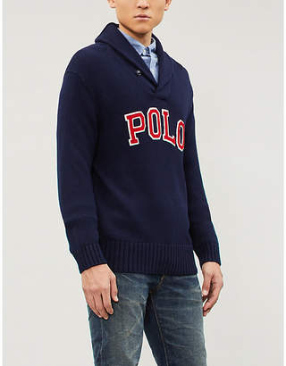 Polo Ralph Lauren Shawl collar knitted cotton jumper