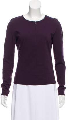 Akris Punto Long Sleeve Zip-Up Top