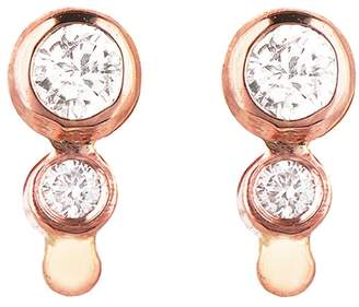 Celine Daoust Double Diamond Stud Earrings