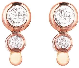 Celine Daoust Double Diamond Stud Earrings