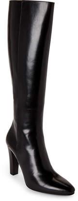 Saint Laurent Black Leather Knee-High Boots