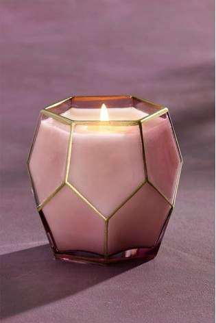 Next Plum Amethyst Faceted Candle