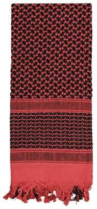 Rothco Shemagh Tactical Desert Scarf, Red/Black