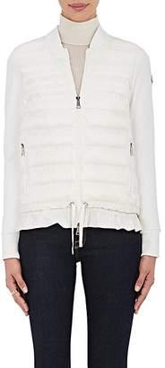 Moncler Women's Ruffled-Hem Combo Sweater - White