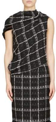 Roland Mouret Eugene Diamond Check Weave Top
