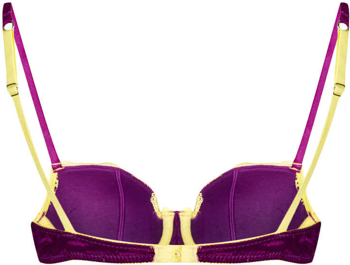 Topshop Lace and Satin Balcony Bra