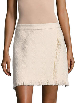 Derek Lam 10 Crosby Fringed Wrap Skirt