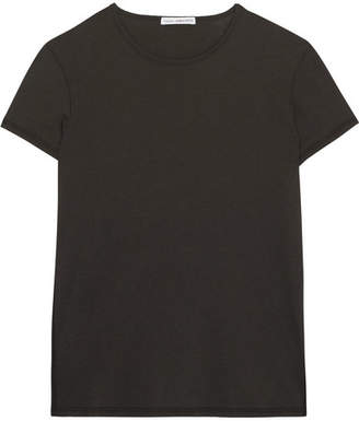 James Perse Zig Zag Cotton And Wool-blend Jersey T-shirt - Anthracite