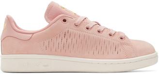 adidas Originals Pink Suede Stan Smith Sneakers $95 thestylecure.com