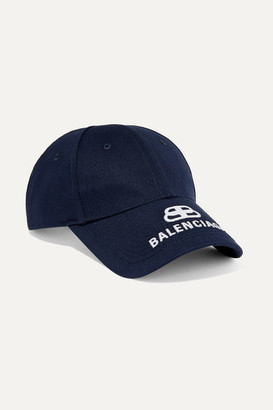 Balenciaga Embroidered Cotton-twill Baseball Cap - Blue