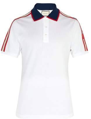 Gucci Cotton Pique Polo Shirt - Mens - White