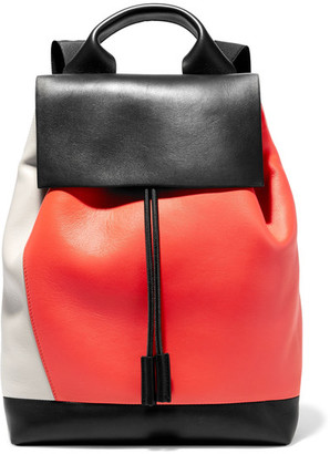 Marni - Pod Color-block Leather Backpack - Black $2,450 thestylecure.com