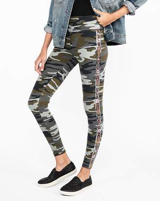 Express High Waisted Embellished Camo Sexy Stretch Leggings