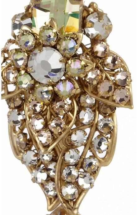 Swarovski Bijoux Heart La Terre D'Or gold-plated crystal earrings