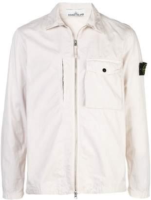 Stone Island plaster lightweight logo jacket