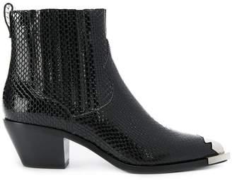 Ash Floyd snake print boots