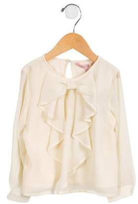 Appaman Fine Tailoring Girls' Bow-Accented Chiffon Top w/ Tags