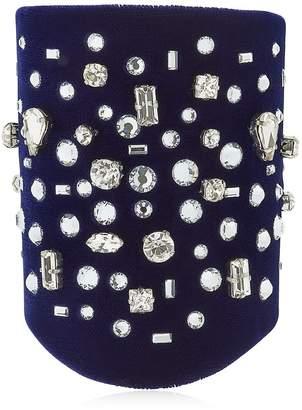 Giuseppe Zanotti Design Density Velvet & Crystal Bracelet