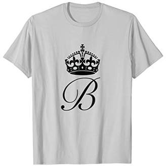 Queen B Graphic Print t shirt With Crown And Letter B