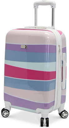 "Steve Madden Stripes 20"" Expandable Hardside Carry-On Spinner Suitcase"