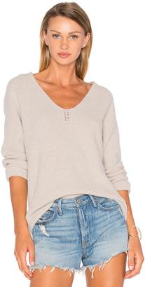 Line Sophia V Neck Sweater $185 thestylecure.com
