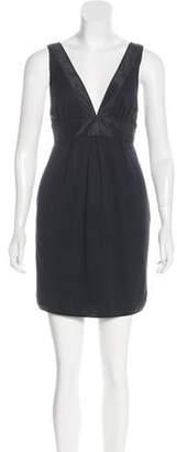 Thread Social Silk-Trimmed Wool Dress