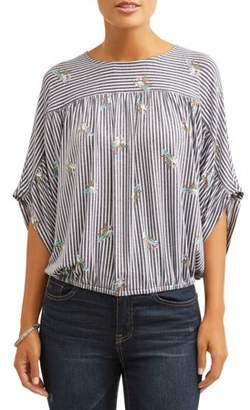 Time and Tru Women's Dolman Top