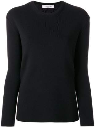 Valentino lace back ribbed sweater