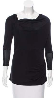 Theory Cowl Neck Jersey Top
