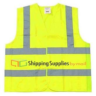 Shield Safety Class 2 Safety Vest, Fluorescent Yellow w/Silver Stripe, Polyester, 5XLarge
