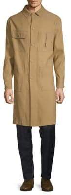 Valentino Classic Long Cotton Coat
