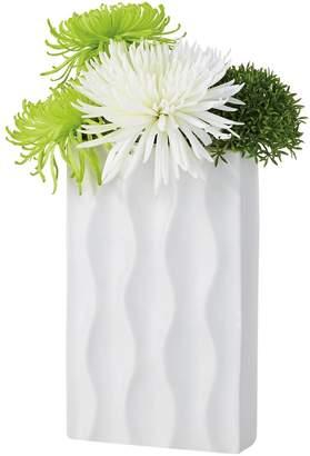 Torre & Tagus Ripple Short Ceramic Rectangular Vase