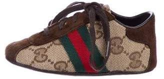 Gucci Boys' GG Canvas Sneakers