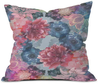 Deny Designs Biljana Kroll Flourishing Florals Throw Pillow