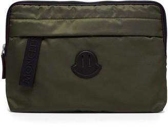 Moncler Logo Patch Pouch - Mens - Khaki
