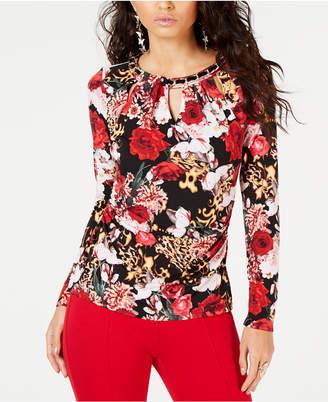 Thalia Sodi Embellished Cutout Top, Created for Macy's