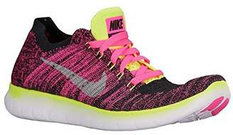 Nike Girls Free RN Flyknit Running Shoes (6.5 (M) US Big Kid, )