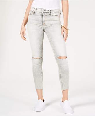 Hudson Ripped Raw-Hem Jeans
