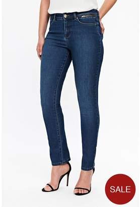 Wallis Petite Harper Straight Cut Jeans - Mid Wash