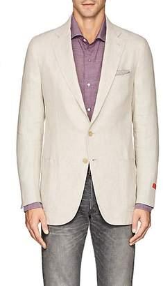 Isaia Men's Dustin Linen Two-Button Sportcoat - Beige, Tan