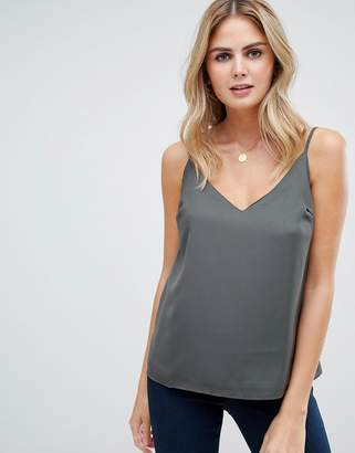 Asos DESIGN fuller bust swing cami with double layer