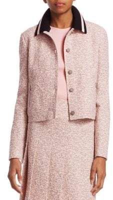 Akris Punto Detachable Collar Tweed Jacket
