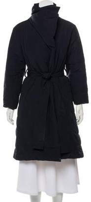Pleats Please Issey Miyake Belted Down Coat